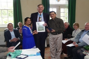 Mr and Mrs Patel receiving their Overall Awards from the High Sheriff